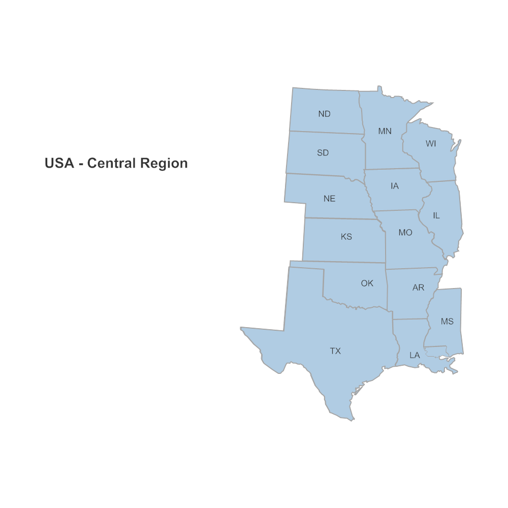 Example Image: USA Region - Central