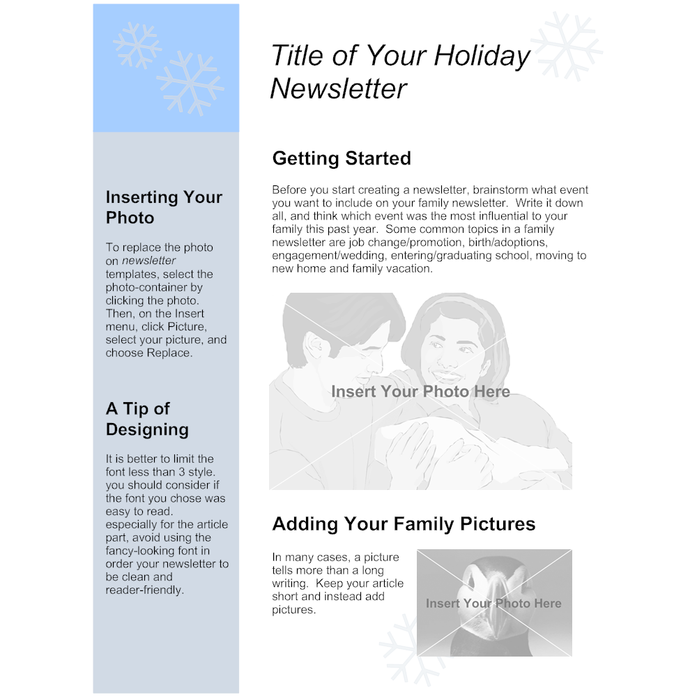 Example Image: Family Holiday Newsletter Template