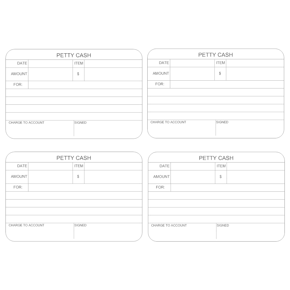Example Image: Petty Cash Form