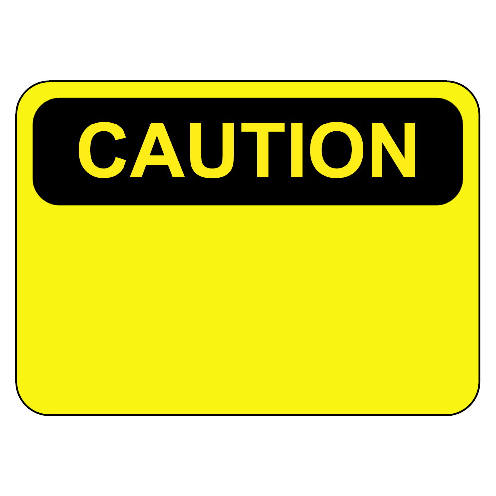 Example Image: Caution Sign