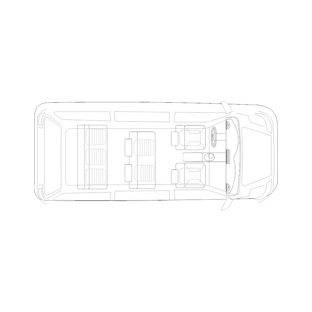 Example Image: Minivan - 2 (Elevation View)