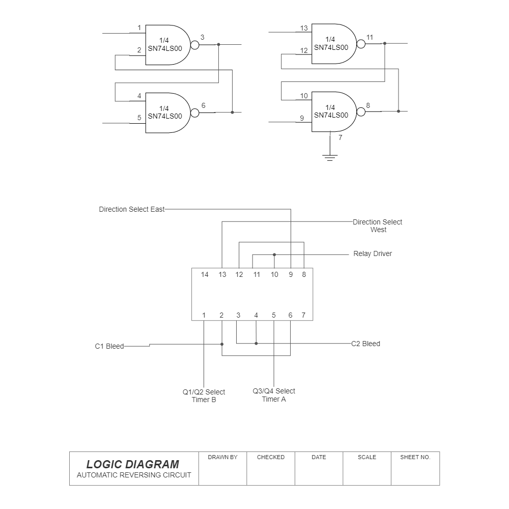 Example Image: Logic Diagram - Auto Reversing Circuit