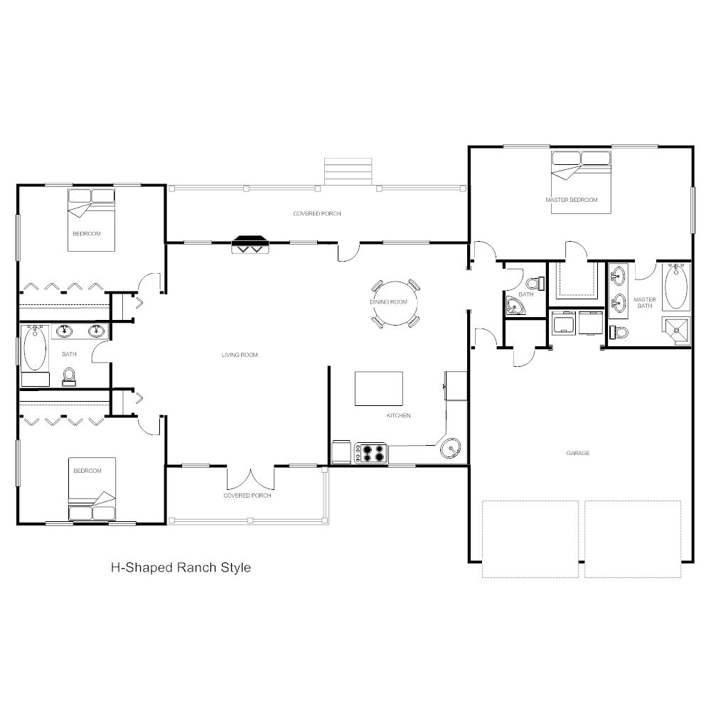 House Plan - H-Ranch