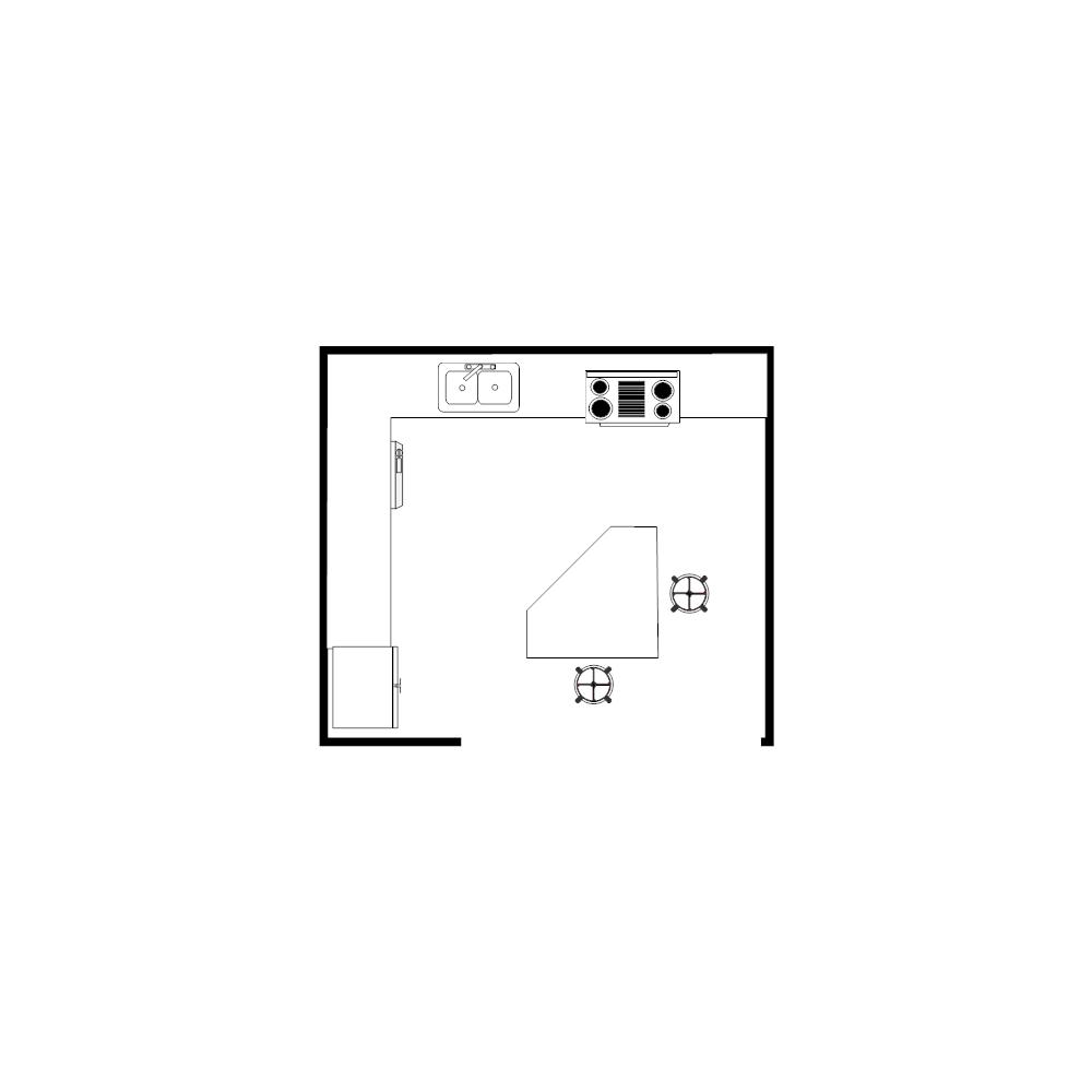Example Image: Island Kitchen Plan