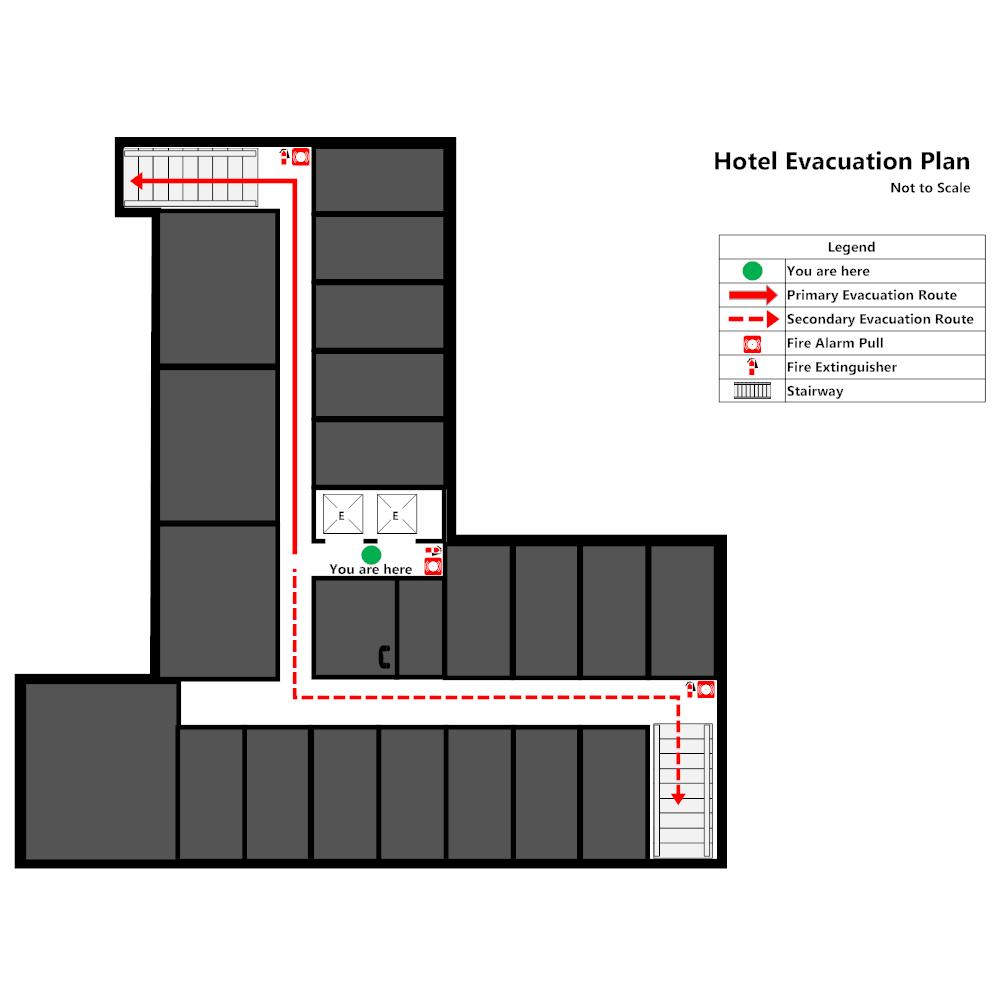 Example Image: Hotel - Elevator Evacuation Plan