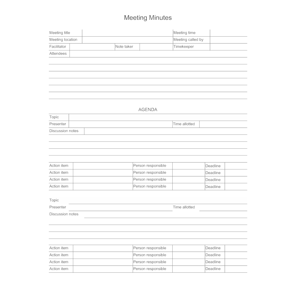 Meeting Minutes – Minutes Example