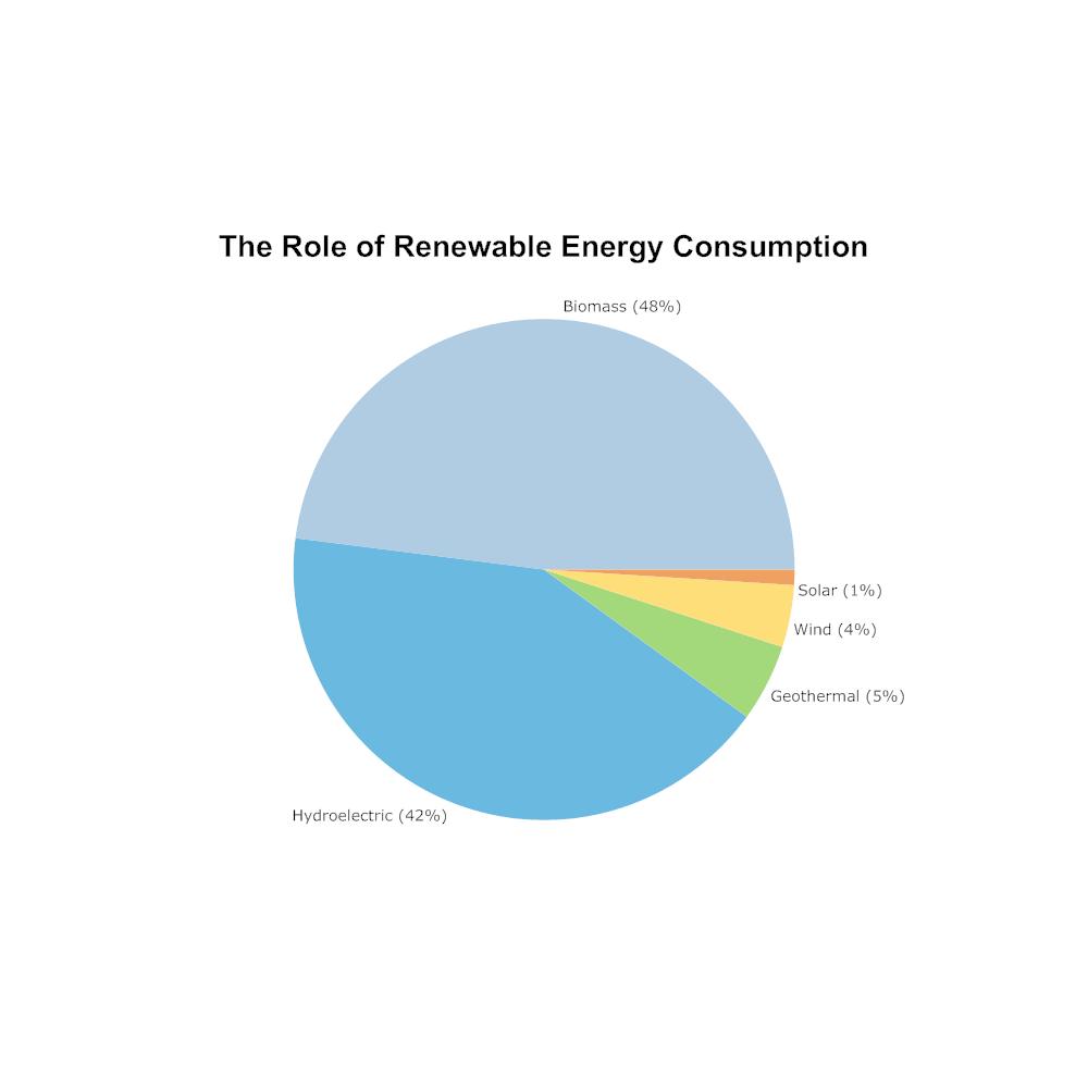 Example Image: Renewable  Energy Consumption Pie Chart Example