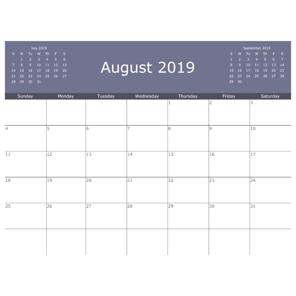 Example Image: Calendar Template