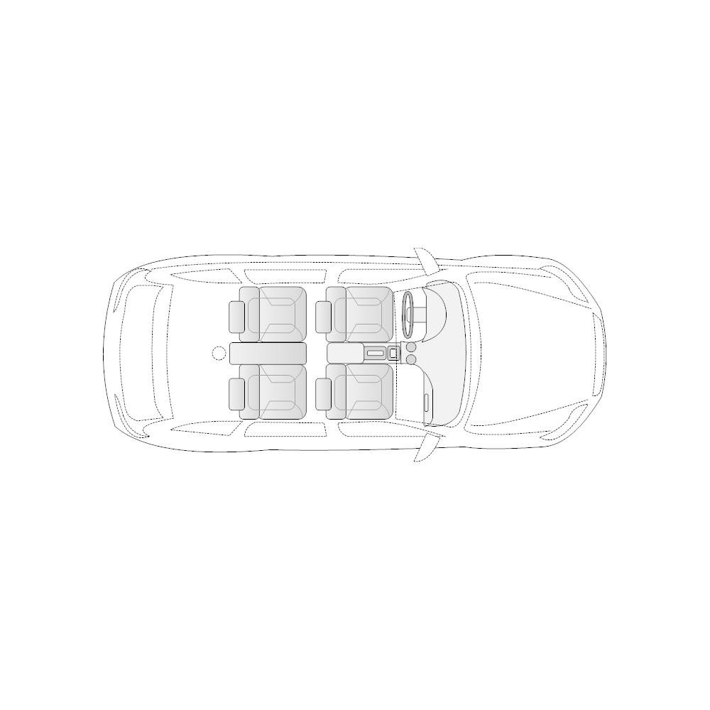 Example Image: 4-Door Compact Car - 1 (Elevation View)