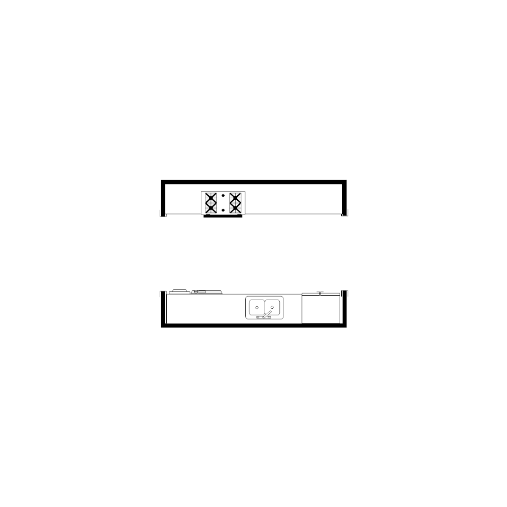 Example Image: Galley Kitchen Plan