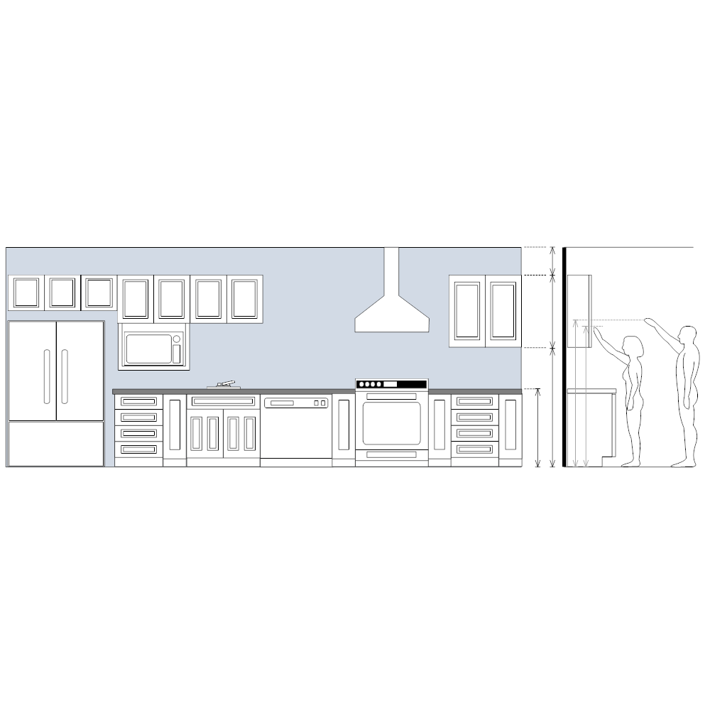 Elevation Plan Template : Kitchen elevation plan