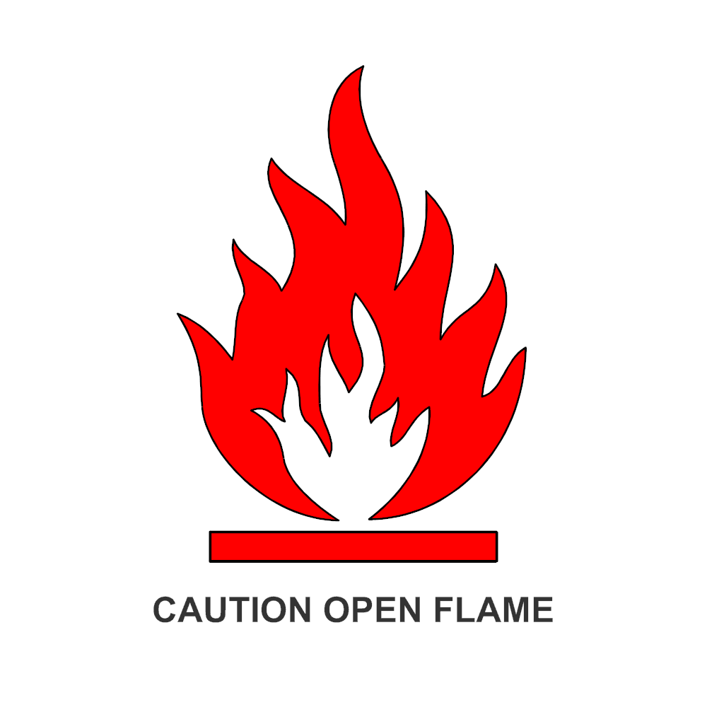 Example Image: Caution Open Flame Sign