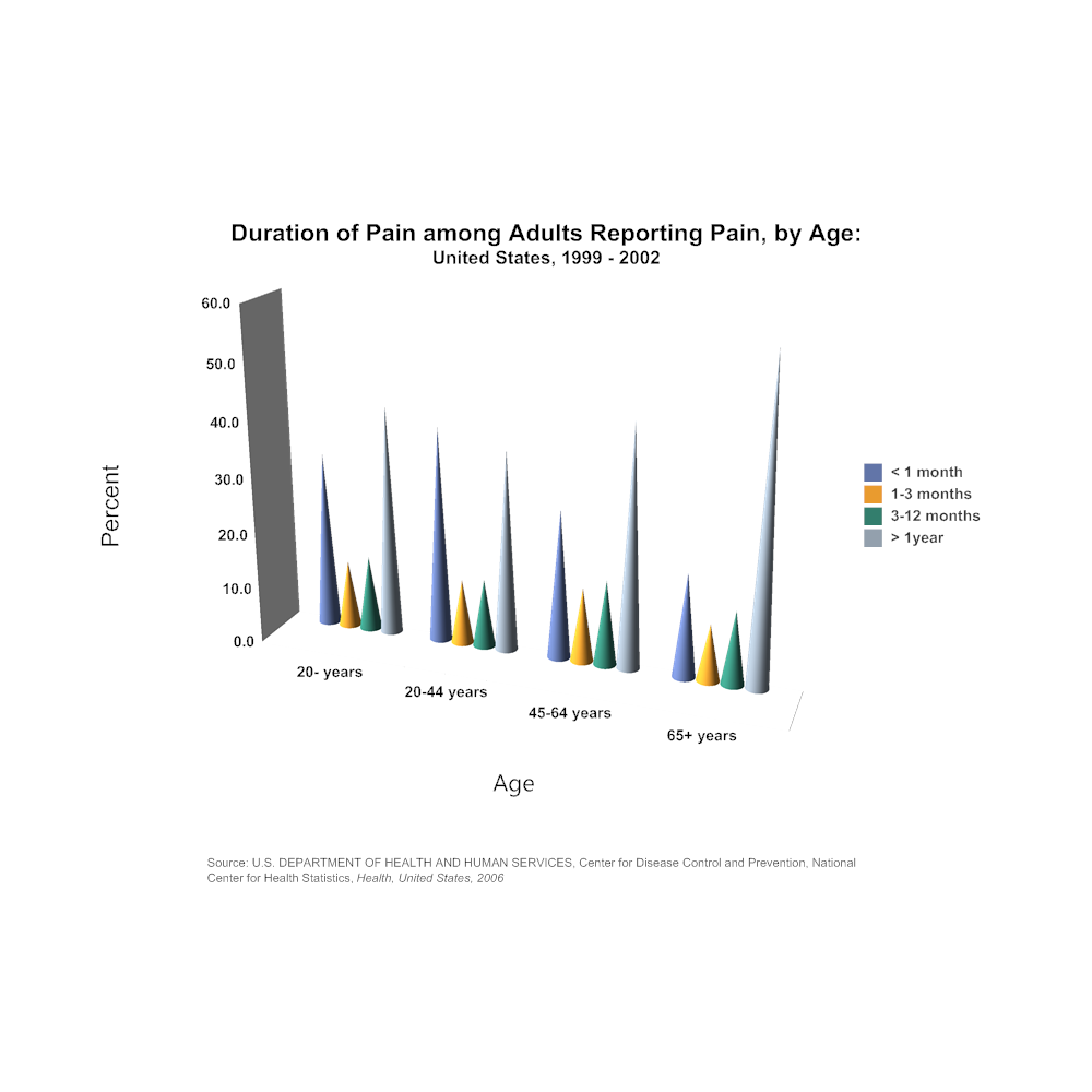 Example Image: Bar Chart Example - Duration of Pain Among Adults Reporting Pain