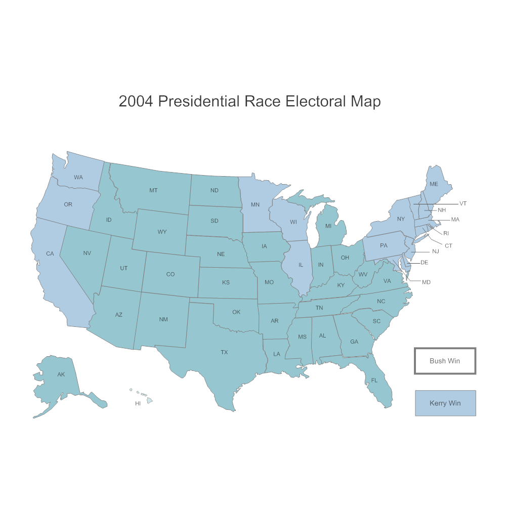 Example Image: Presidential Electoral Map (2004)