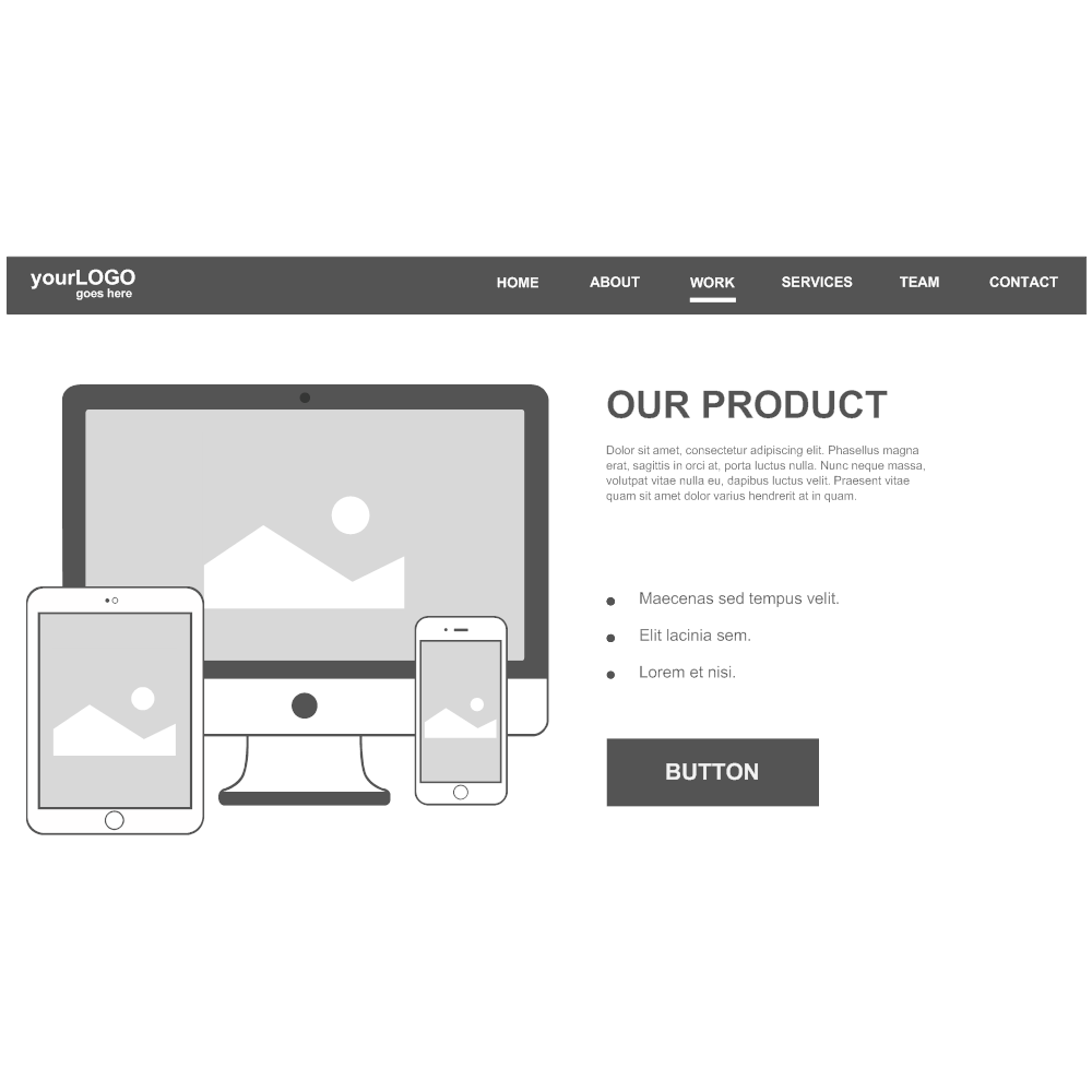Example Image: Website Product Page Wireframe