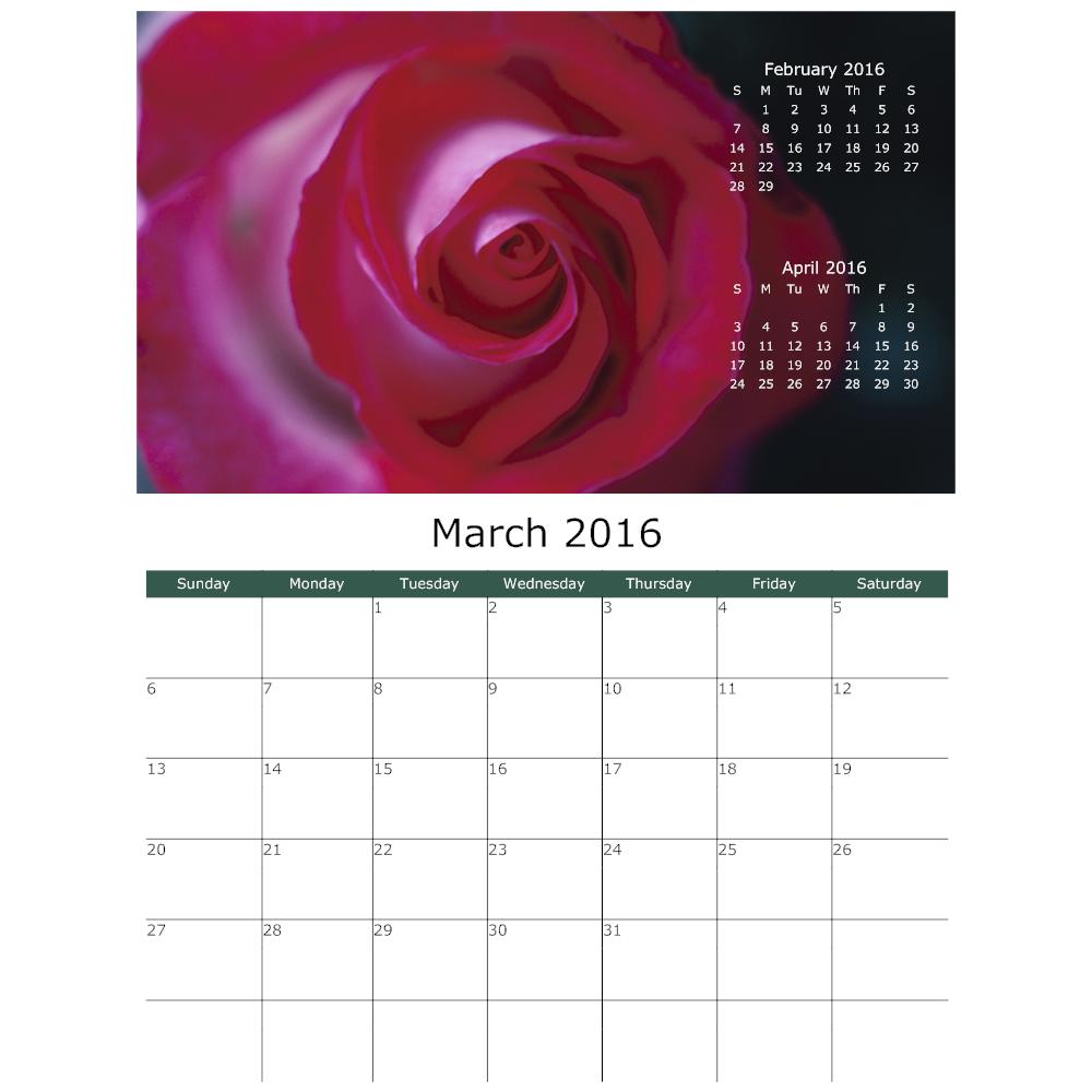 Example Image: Rose Calendar