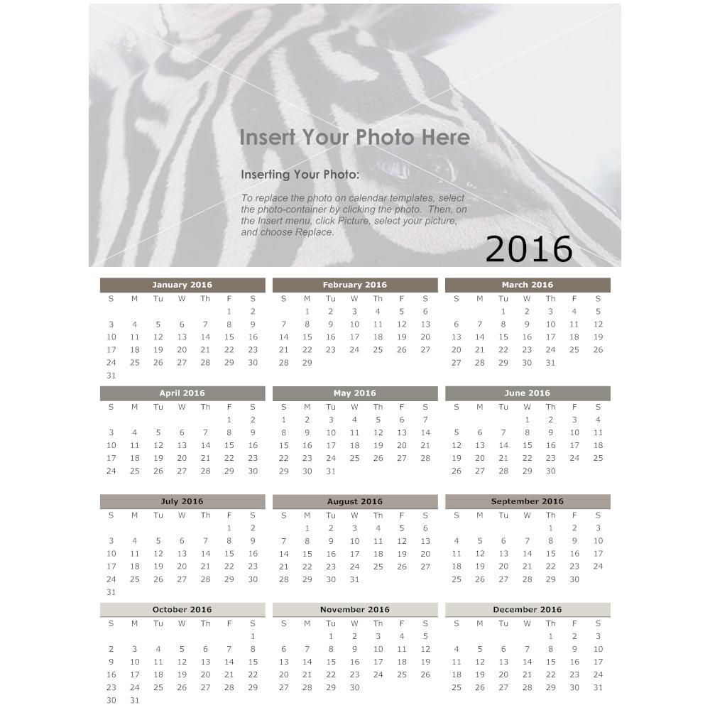 Example Image: Carbon Annual Calendar
