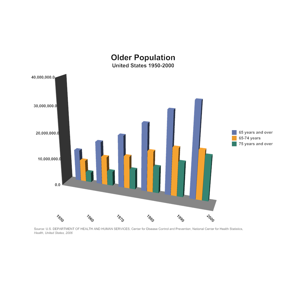 Example Image: Older Population Bar Graph Example