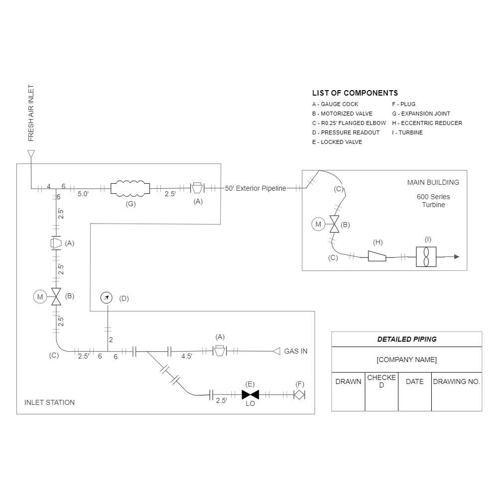 Example Image: Piping Diagram Example