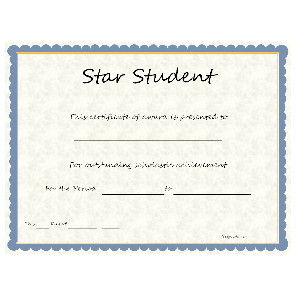 Example Image: Star Student Award