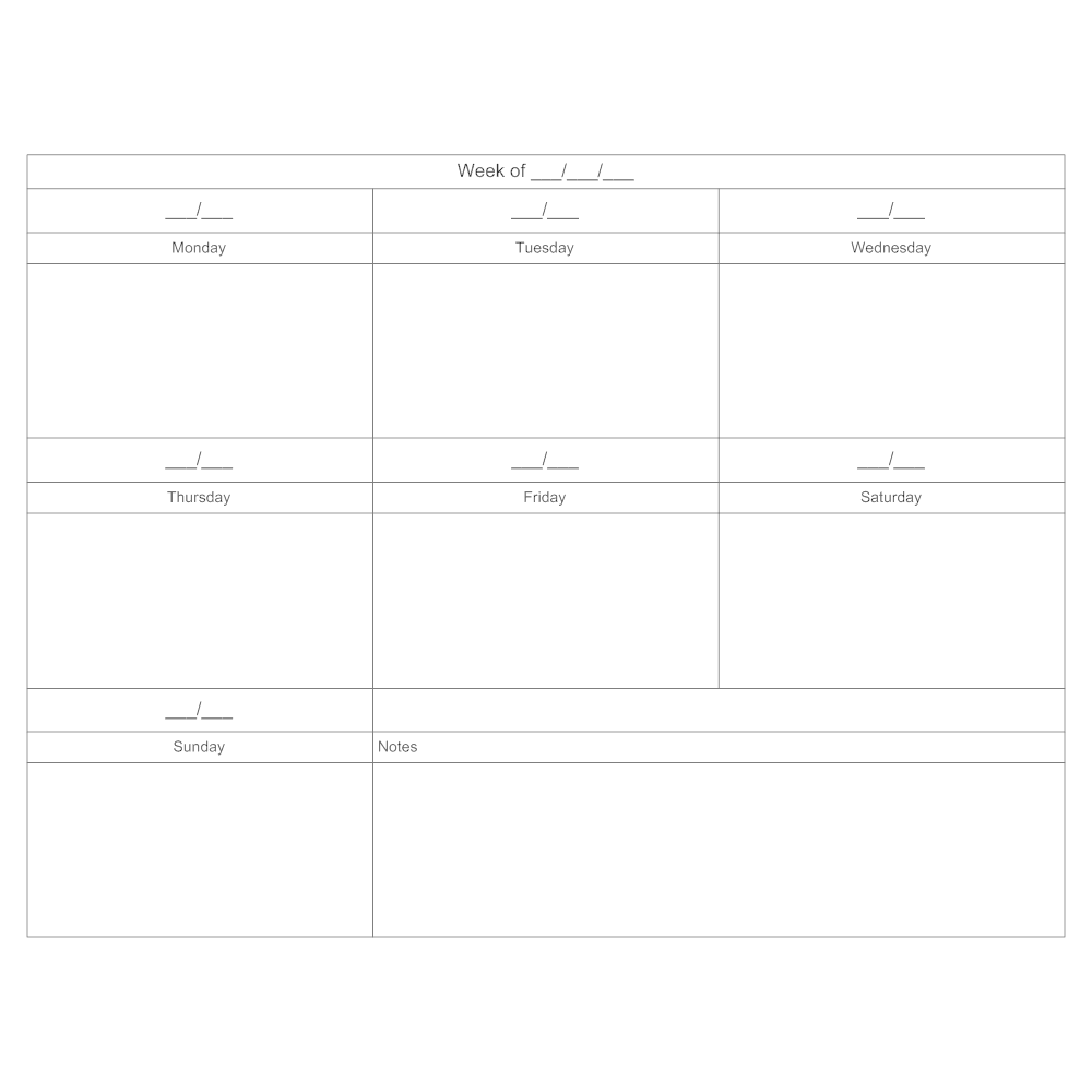 Example Image: 7-day Scheduling Calendar
