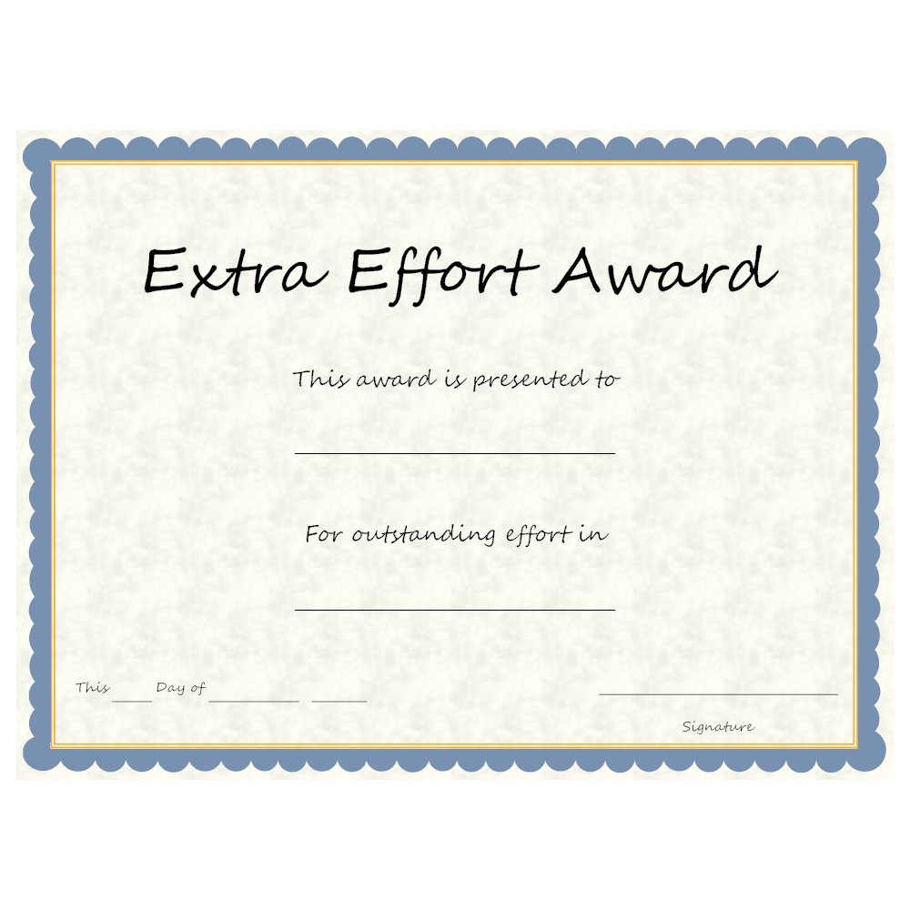 Example Image: Extra Effort Award