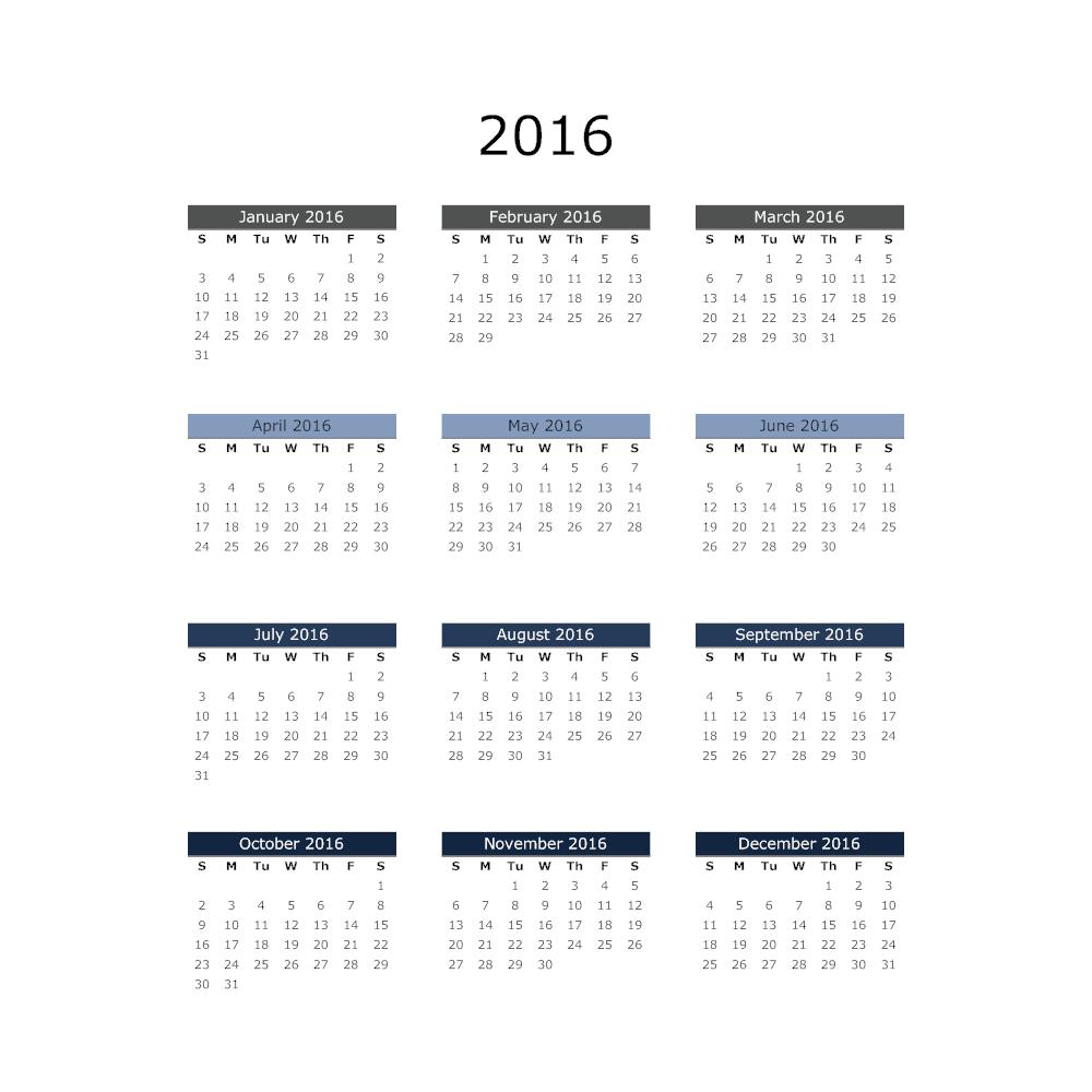 Example Image: Annual Calendar