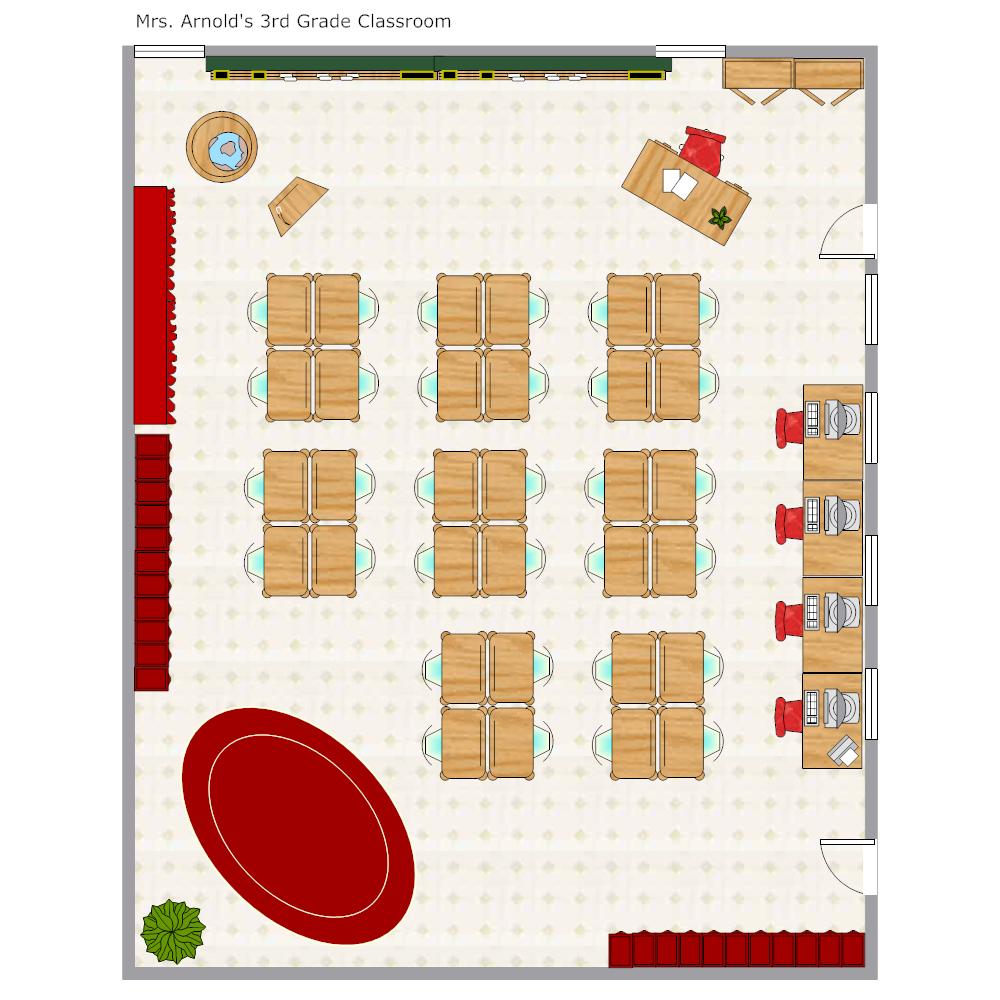 Example Image: Grade School Classroom Seating Chart
