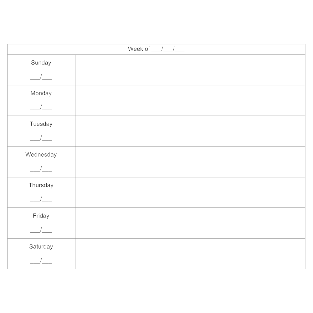 Example Image: 7-day Schedule Calendar