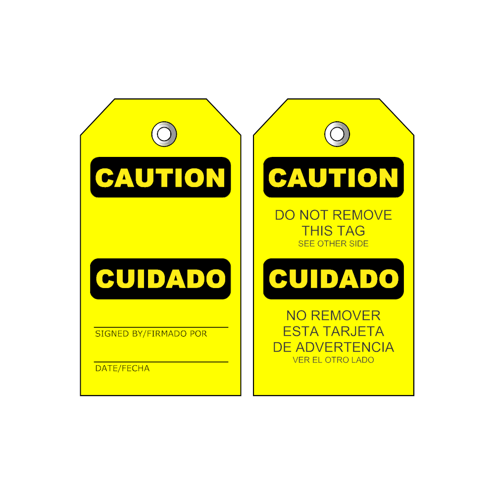 Example Image: Caution Tag