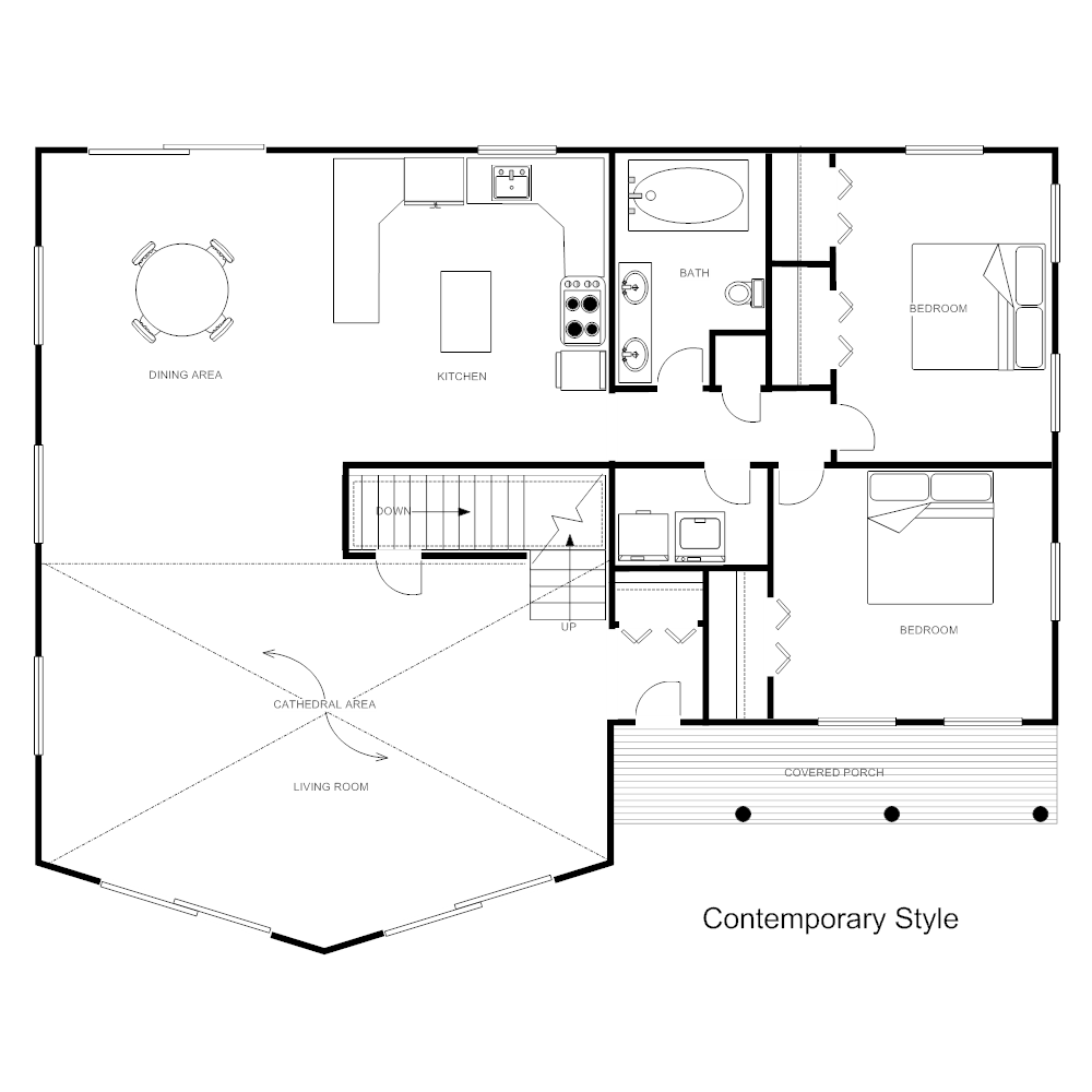 Floor plan templates draw floor plans easily with templates house plan contemporary pronofoot35fo Images