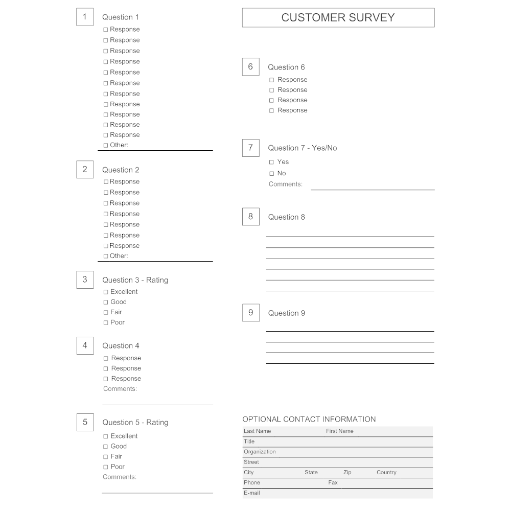 Example Image: Survey Template