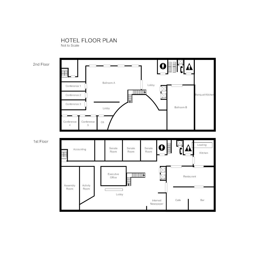 Simple hotel lobby floor plan hotel floor plan