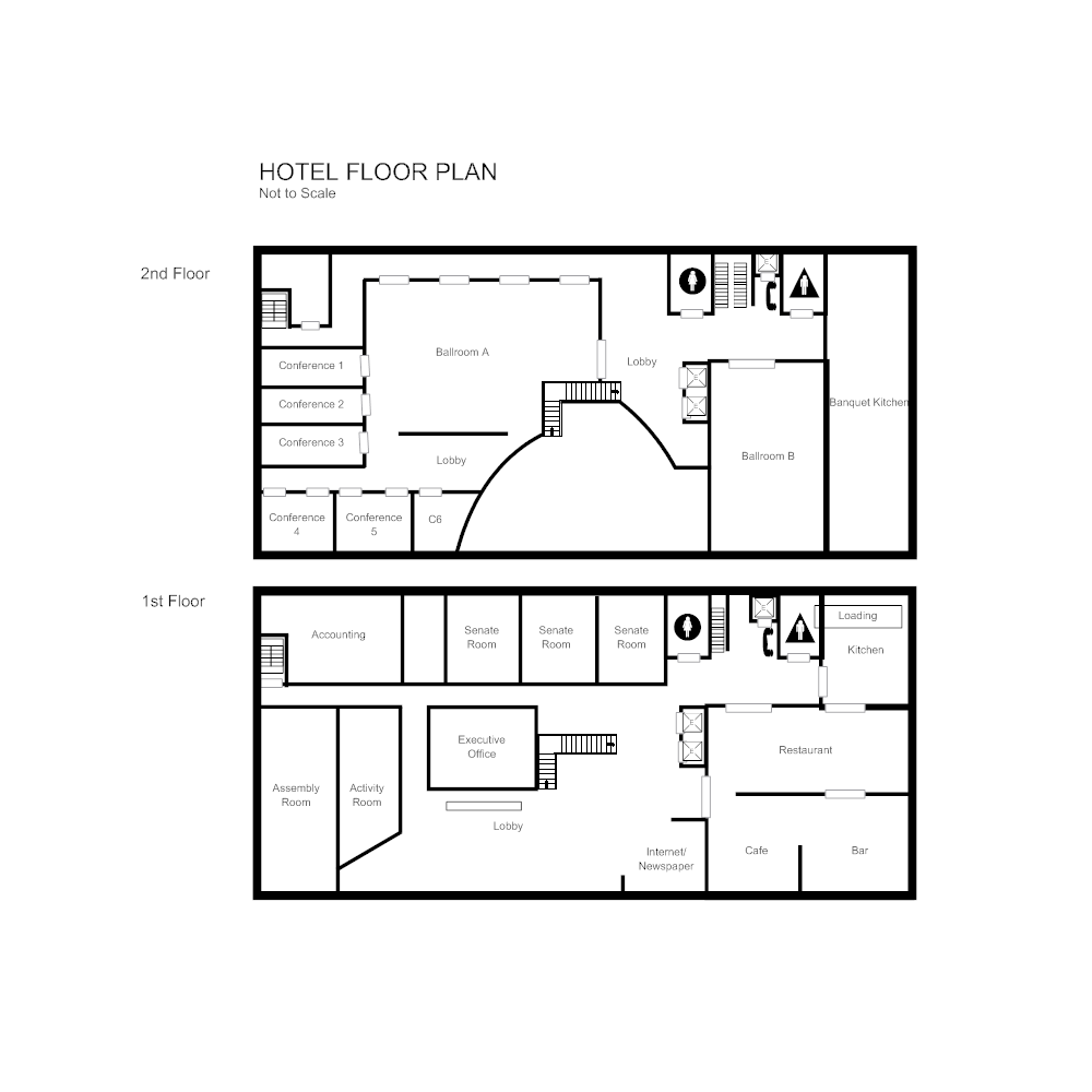 Hotel floor plan Edit floor plans online