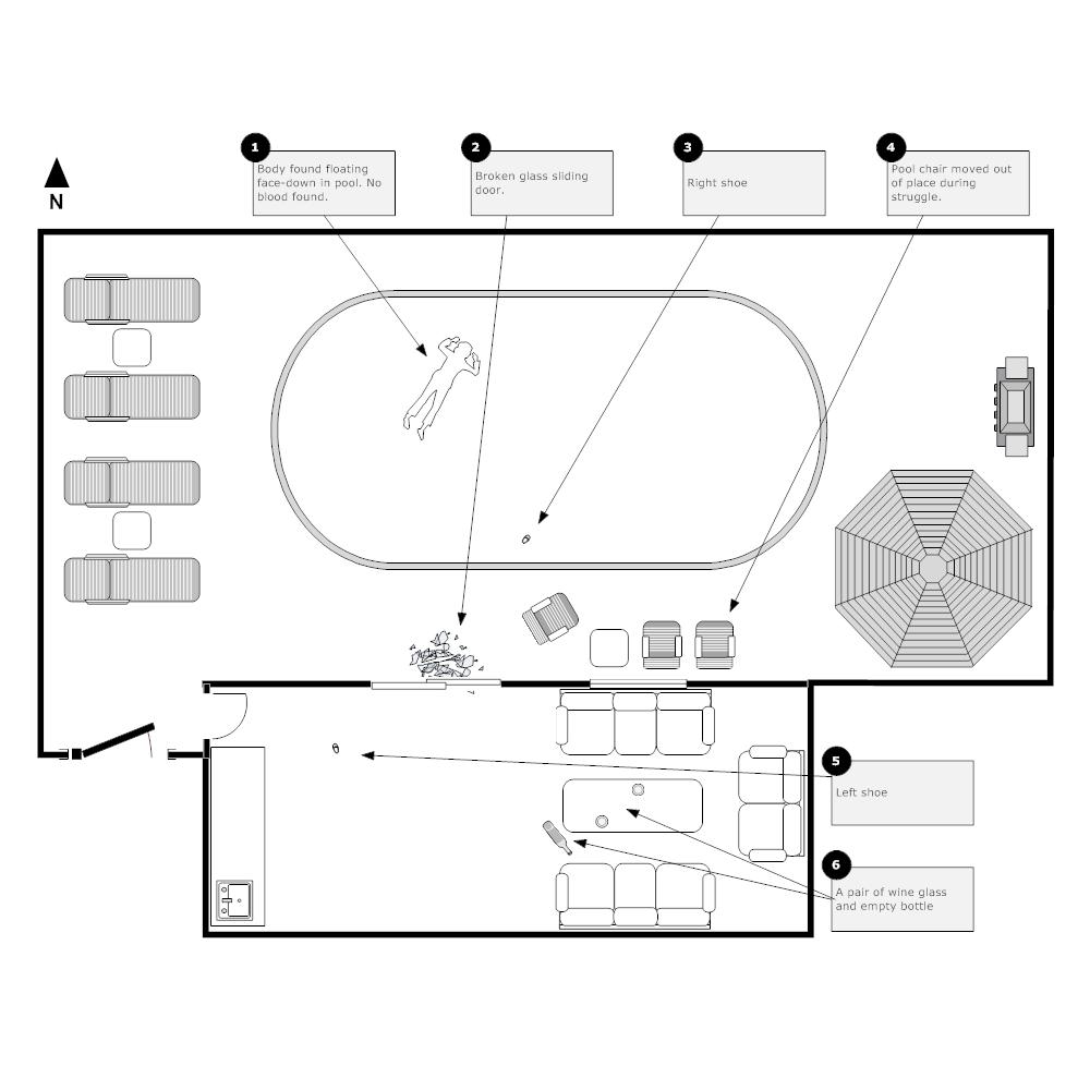 Example Image: Crime Scene - Pool