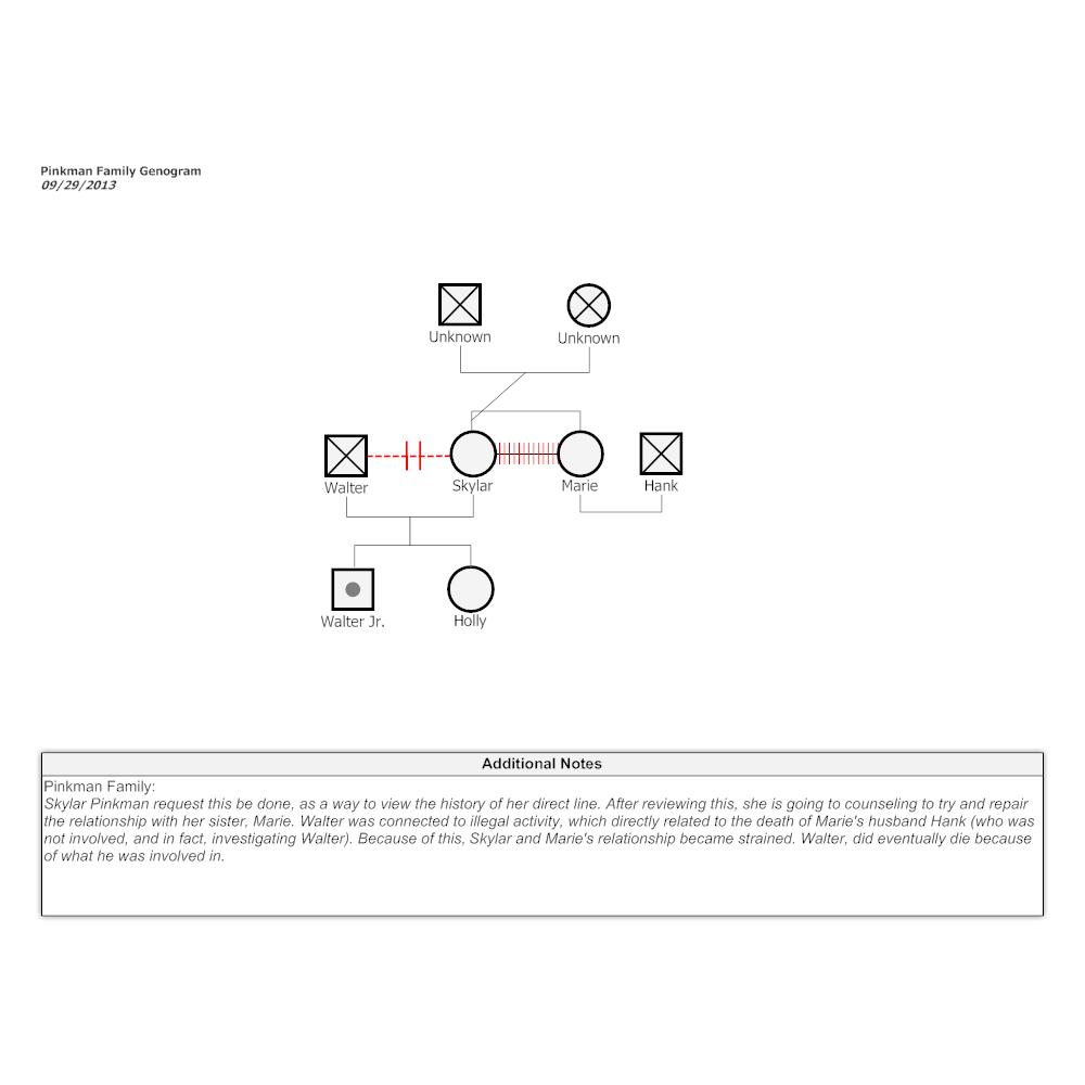 Example Image: Pinkman Family Genogram