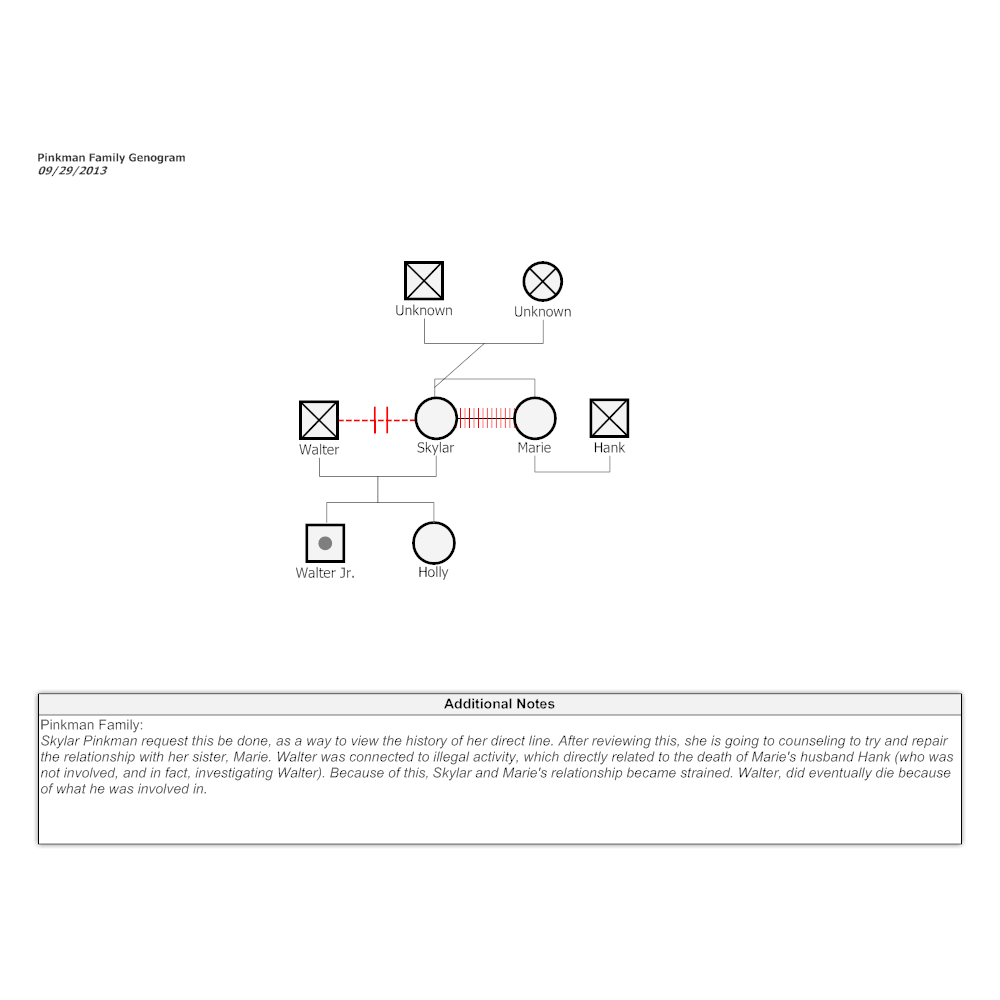 Example Image: Pinkman Family Genogram
