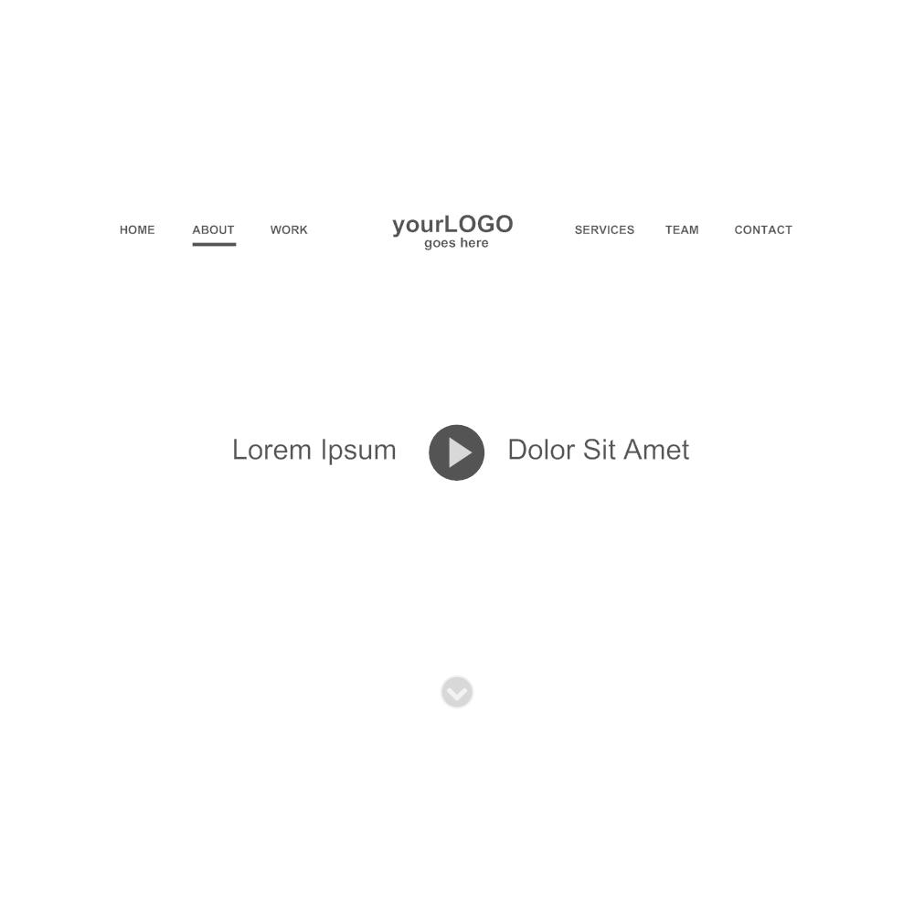 Example Image: Website Header Wireframe