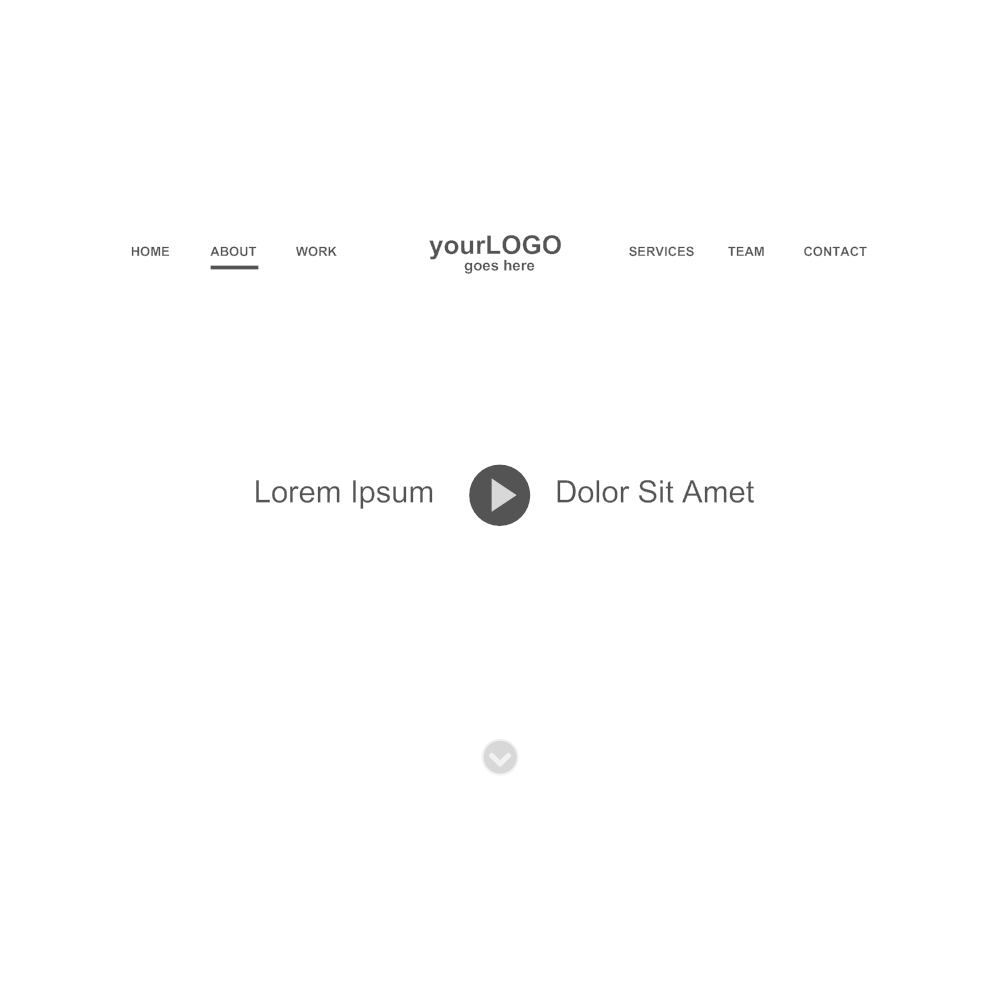 Example Image: Website Header Wireframe