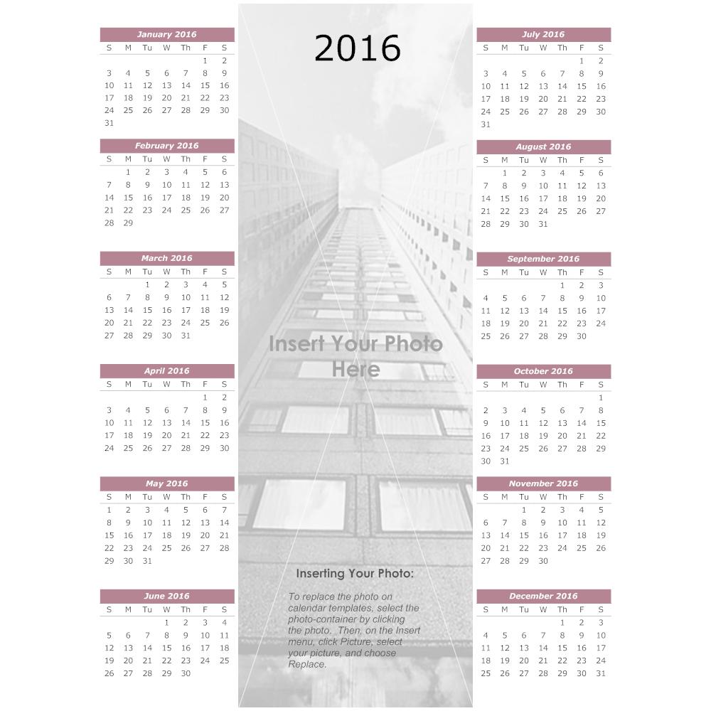 Example Image: Urban Yearly Calendar