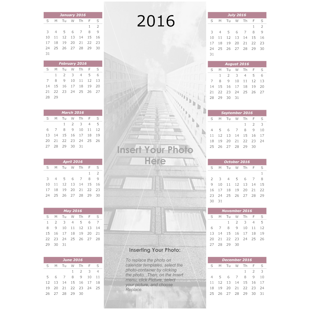 Example Image: Urban Yearly Calendar