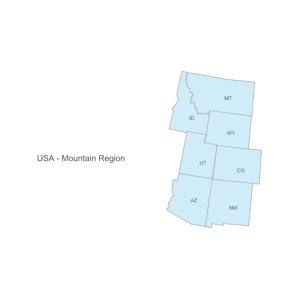 Example Image: USA Region - Mountain