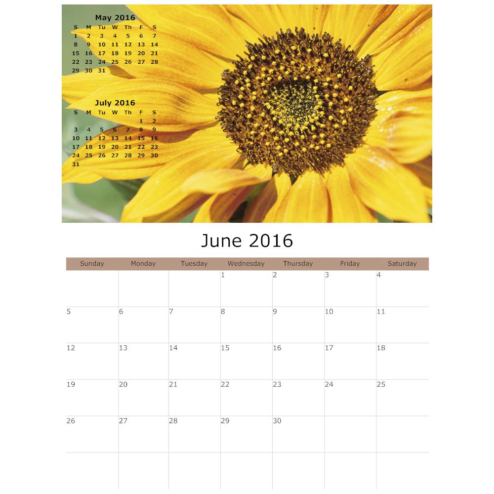 Example Image: Flower Calendar