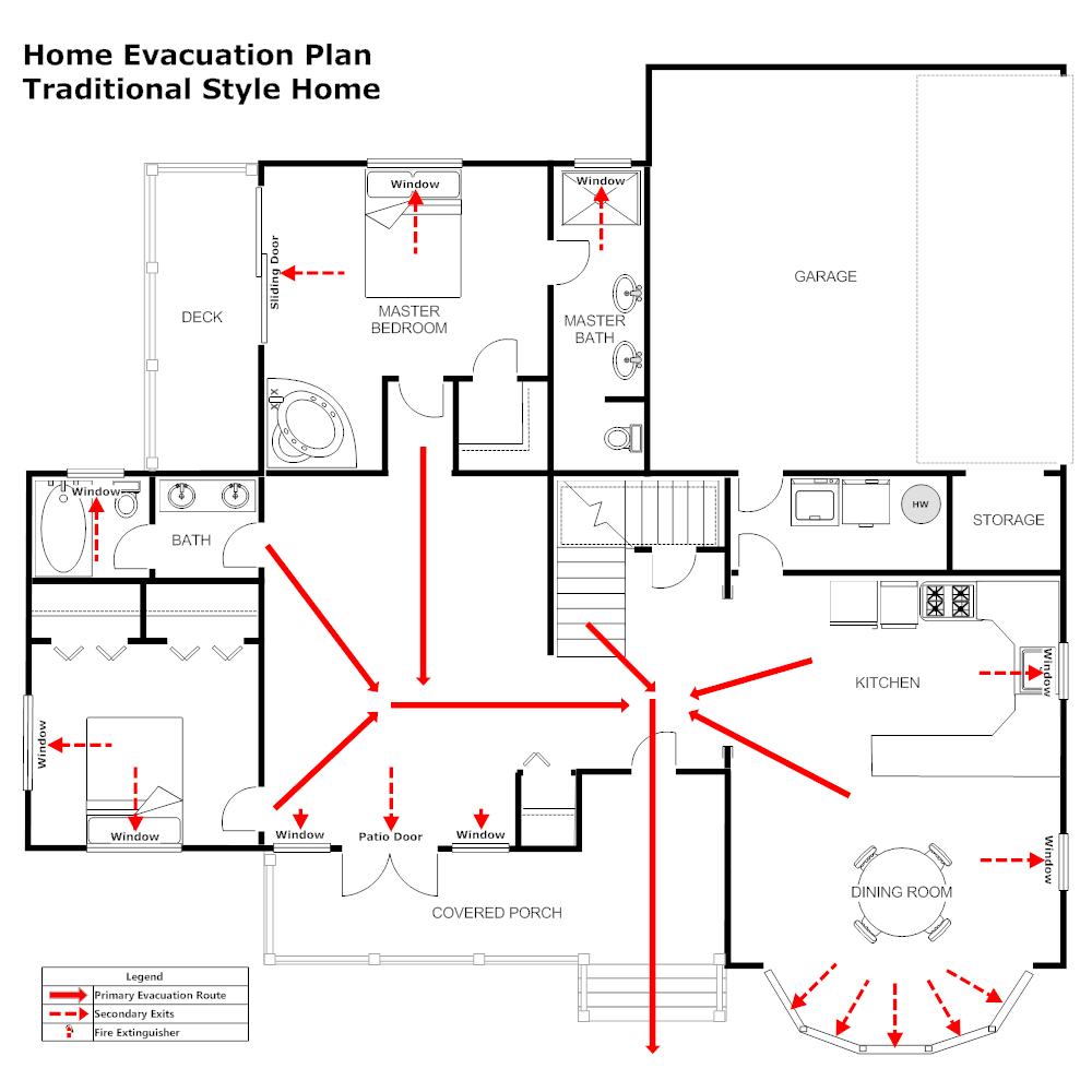 residential evacuation plan