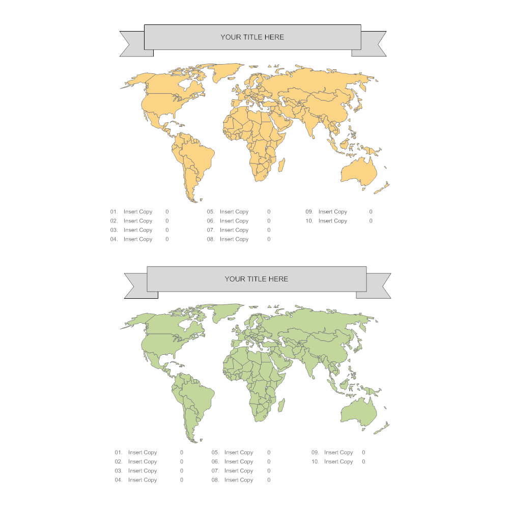 Example Image: World Data Map Infographic Template