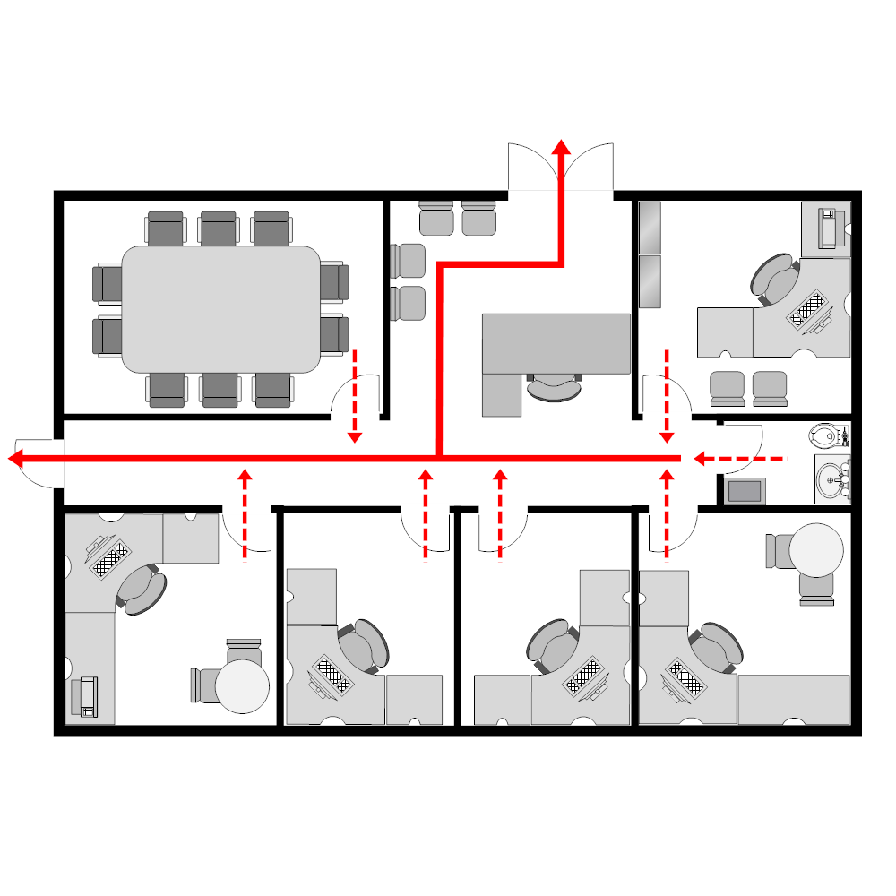 Office evacuation plan 2 for Fire evacuation plan template for office