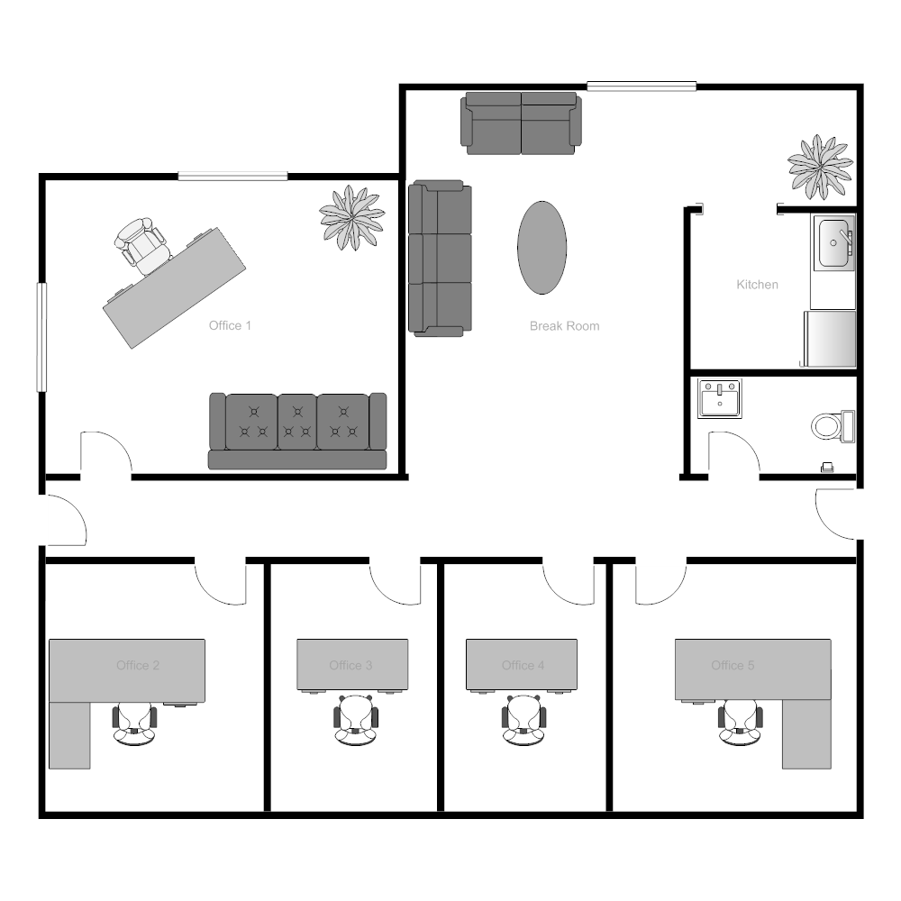 Office building floor plan for Building layout design