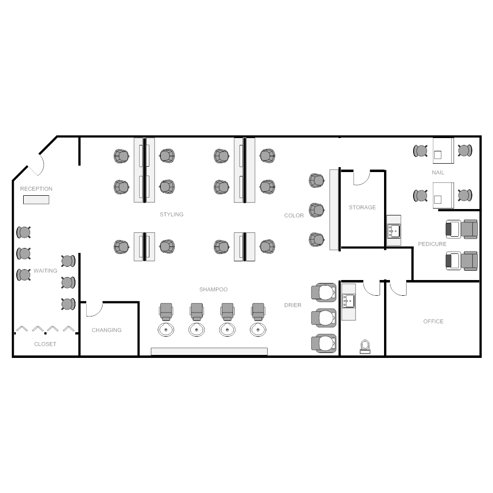 Salon Design Space Planning Floor Plan Layouts For Salons Spas 26 ...
