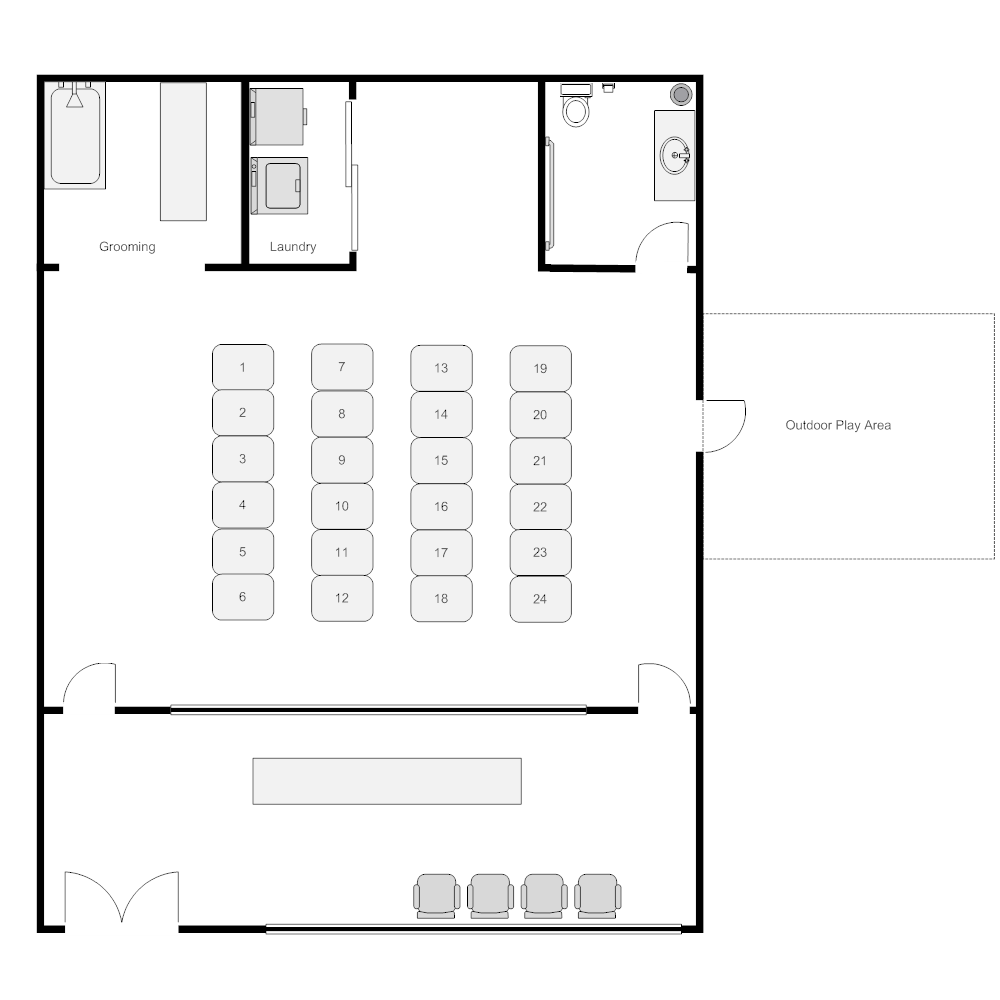 Example Image: Kennel Layout