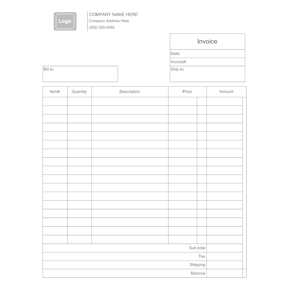 Example Image: Invoice Template 3